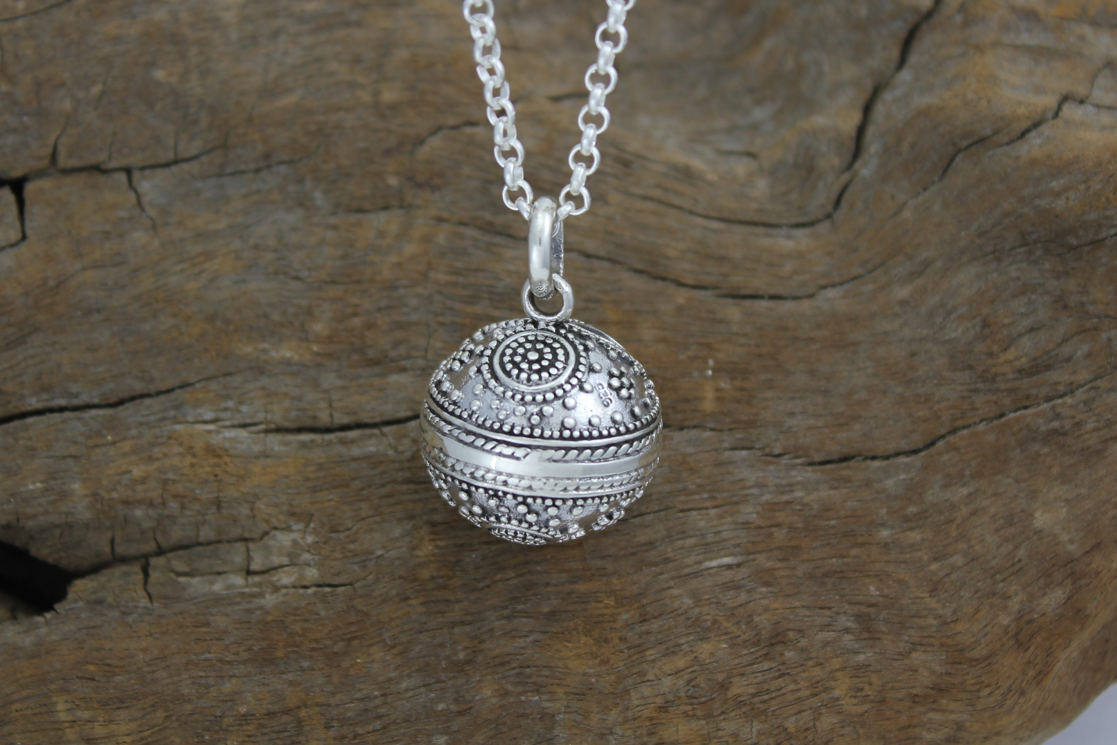 Harmony ball pendant driftwood jewellers exmouth western australia sterling silver harmony ball harmony ball pendant aloadofball Image collections